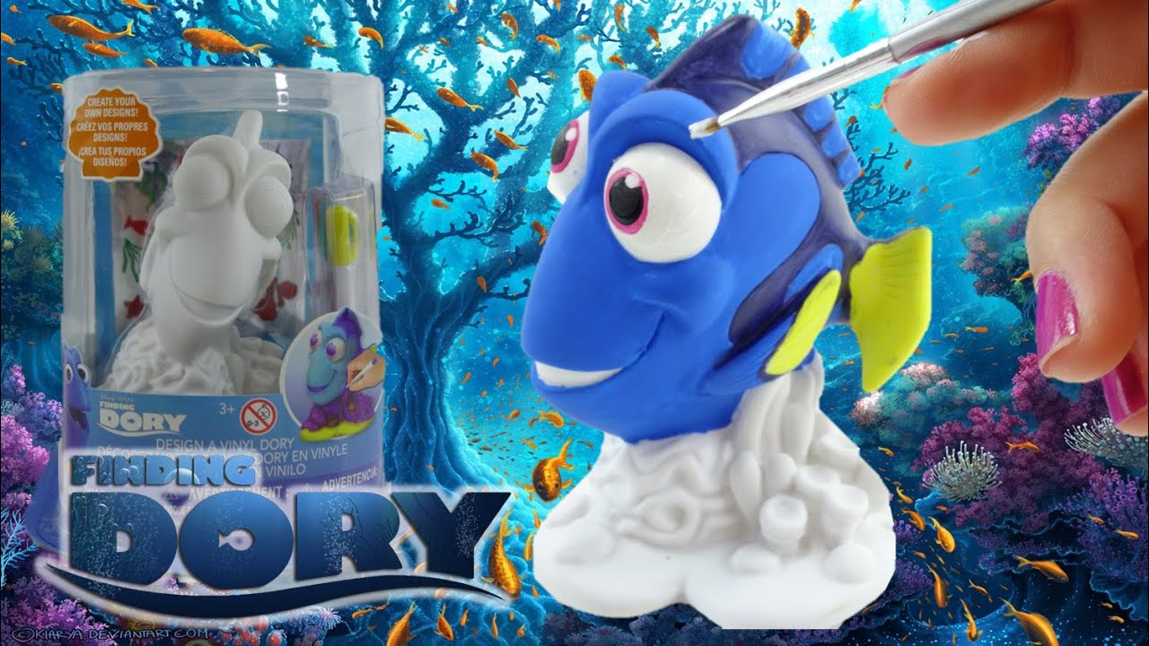 Finding Dory Disney Movie - Coloring a Design a Vinyl Dory DIY Painting Kit