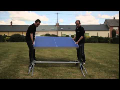 Aufbau Cornilleau Tischtennisplatte 500M