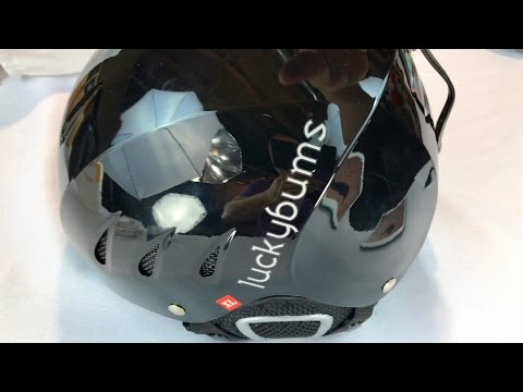 Lucky Bums Snow Skiing Snowboarding Sport Helmet (Metallic Black) by Avalanche Brands review