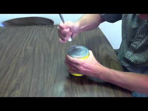 Turn A Spoon Into A Can Opener