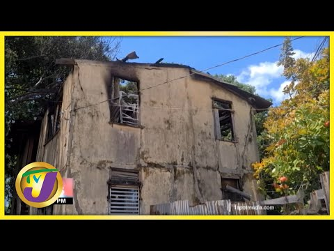 Bob Marley's Childhood House Destroyed by Fire in Jamaica TVJ News Sept 18 2021