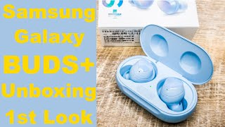 Samsung Galaxy Buds+ Plus Cloud Blue Unboxing and First Look Impressions