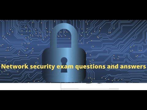 network security exam questions and answers - YouTube