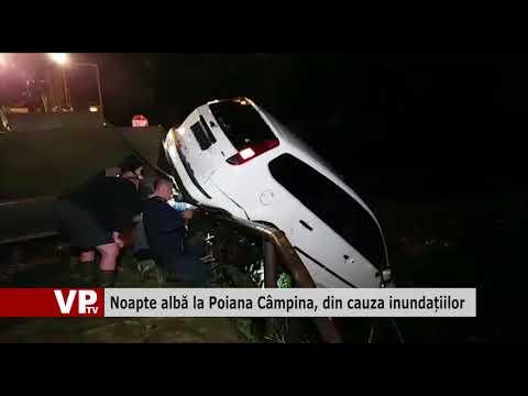 Noapte albă la Poiana Câmpina, din cauza inundațiilor