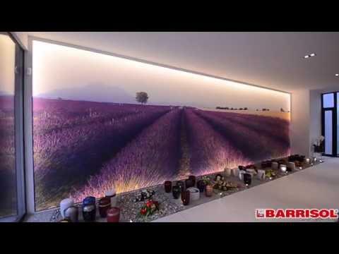 Barrisol print z razsvetljavo