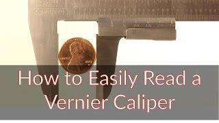 How to Easily Read a Vernier Caliper