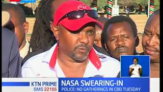 Bitter confrontation looms between supporters of NASA and police ahead of controversial swearing-in