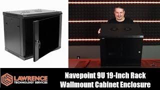 Navepoint 9U  IT Wallmount Cabinet Enclosure 19-Inch Server Network Rack