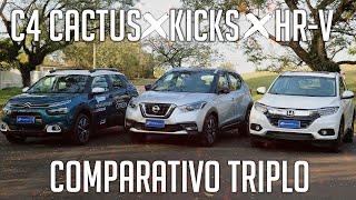 Comparativo: HR-V x Kicks x C4 Cactus