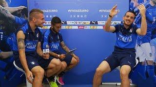 """Esame Di Napoletano Per Florenzi Con I  """"prof"""" Insigne E Immobile - EURO 2016"""