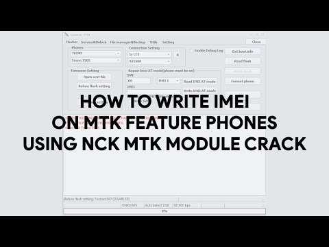 How To Write IMEI on MTK Feature Phones Using NCK Dongle - [romshillzz]