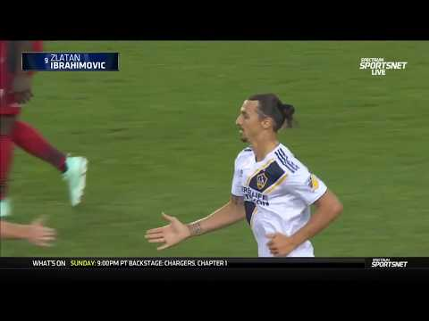Zlatan Ibrahimovic scores his 500th goal the Zlatan way.