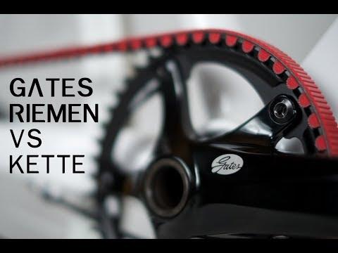 GATES Carbon Drive Riemenantrieb vs. Kette