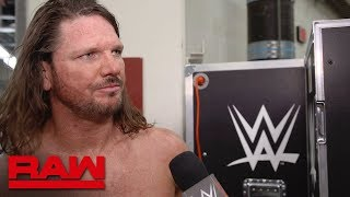 "AJ Styles on why Seth Rollins can't be ""Phenomenal"": Raw Exclusive, April 22, 2019"