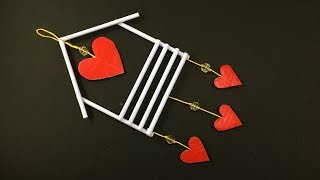 How To Make Home And Heart Design Wall Hanging | Love | Easy Wall Decoration Ideas - Paper Craft