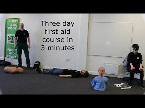 Three day first aid course in 3 minutes - YouTube