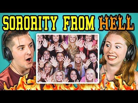 COLLEGE KIDS REACT TO SORORITY FROM HELL! (Sorority Chants)