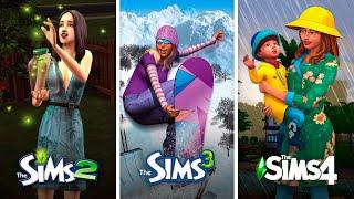 Времена года в The Sims | Сравнение 3 частей