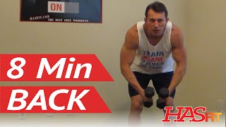 8 Min Back Workout at Home - HASfit Back Exercises Routine - Back Work Out by HASfit