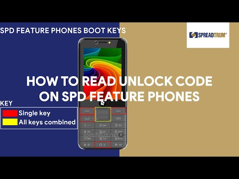 How To Read Unlock Code on SPD Feature Phones - [romshillzz]