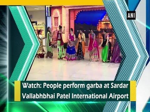 Watch: People perform garba at Sardar Vallabhbhai Patel International Airport