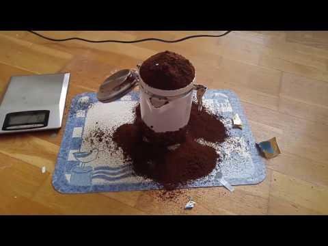 Kaffee passt nicht in der kaffeedose