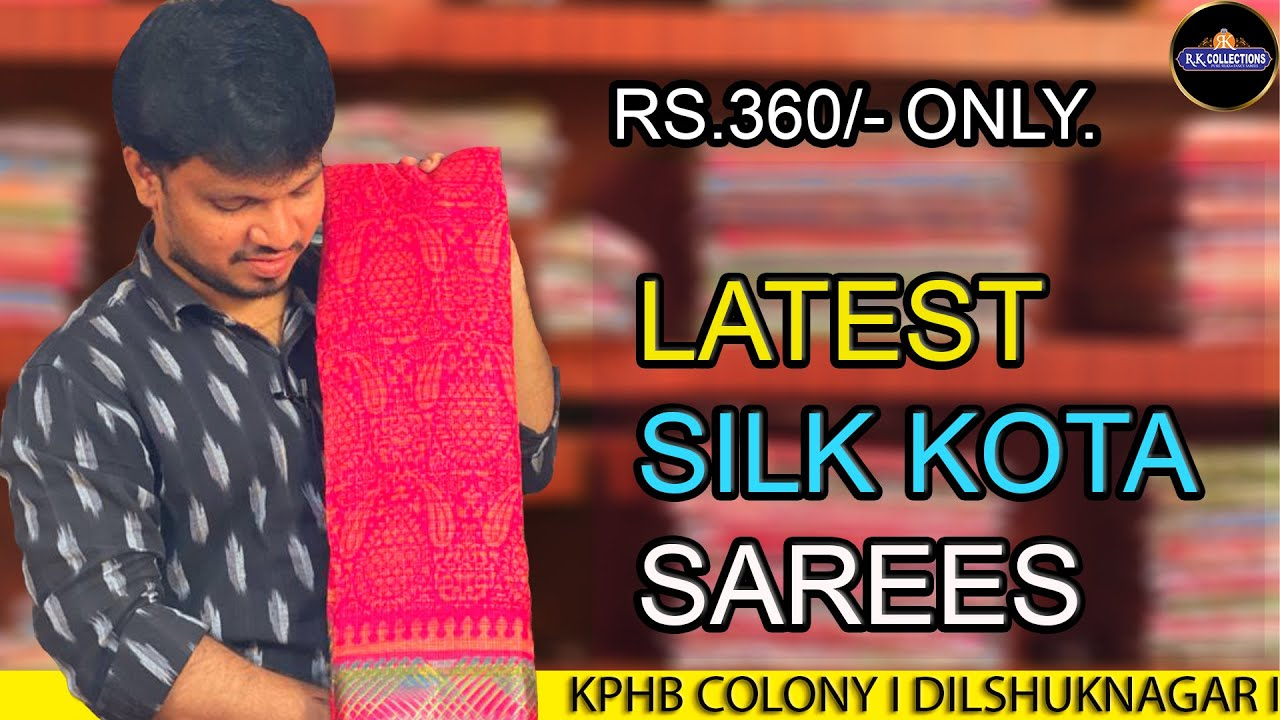 """<p style=""""color: red"""">Video : </p>Low price Silk Kota sarees I STORE VISIT ONLY I R K COLLECTIONS 2020-09-23"""