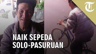 Viral Video Seorang Pria Naik Sepeda dari Solo Menuju Pasuruan hanya Demi Kembalikan Dompet Hilang