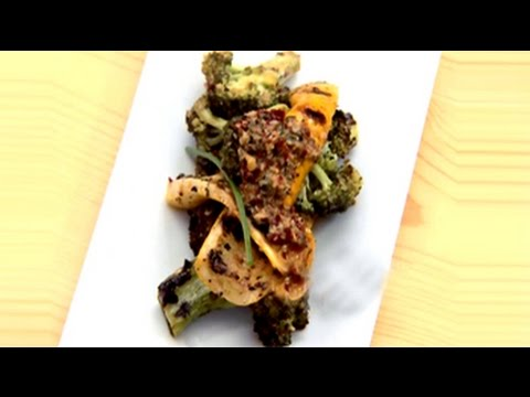 Charred Broccoli and Grilled Yellow Squash Salad