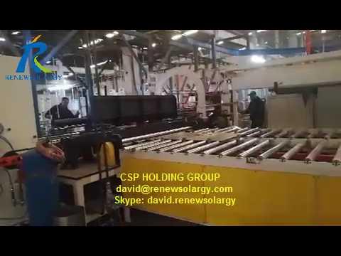 Dispositivo de carga automática para la producción de laminación de calentadores de gas