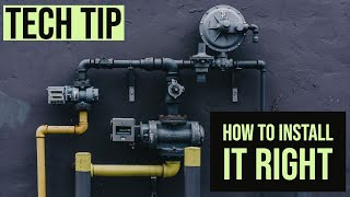 The right way to install a gas pressure regulator