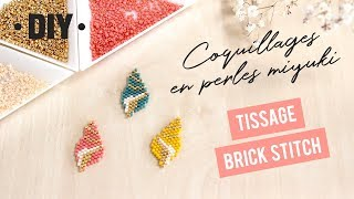 DIY Pins Coquillages Conque En Perles Miyuki Tissage Brick Stitch