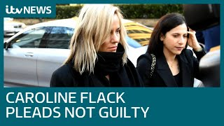 Love Island presenter Caroline Flack pleads not guilty to assaulting boyfriend | ITV News