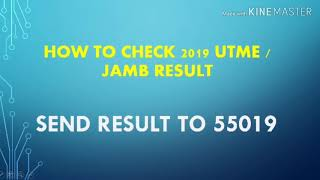 How to check 2019 JAMB /UTME Result