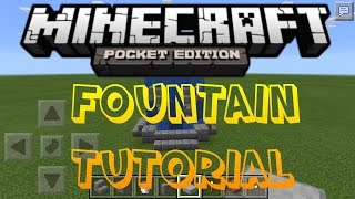 HOW TO BUILD A FOUNTAIN IN MCPE! | BUILDING TUTORIALS EP.1
