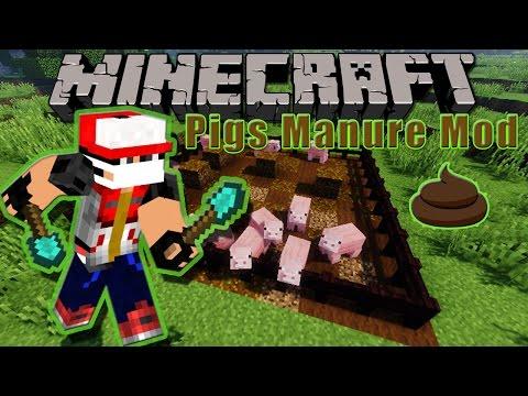 Minecraft Mod Showcase - Pigs Manure Mod | PIGS POOP!! | Jason The Survivor