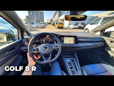 New Volkswagen Golf 8 R 2021 Test Drive Review POV