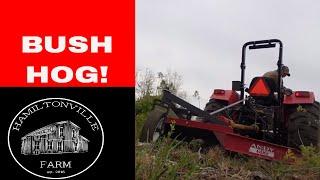 Bush Hog Basics~How to operate a brush hog mower on a tractor