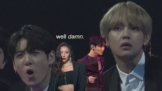 Sunmi & Taemin's Collab Stage Except Bts Is Reacting To Them