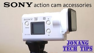 Review Sony Action Cam FDR-X3000r accessories (2018)