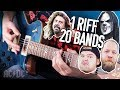 AC/DC Back In Black (1 Riff 20 Bands Cover by Pete Cottrell)