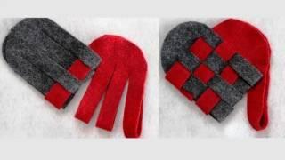 Поделки из фетра на день святого Валентина