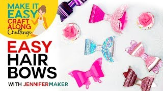 Make Easy Hair Bows With Mermaid Tails, Butterfly Wings, & Hearts!