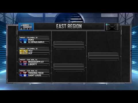 Breakdown of the NCAA tournament East region (видео)