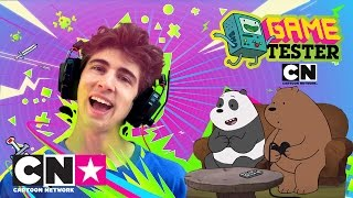 We Bare Bears Vs Favij | Game Tester | Cartoon Network