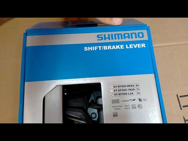 Видео Моноблок правый Shimano Acera ST-EF500 7 speed черный