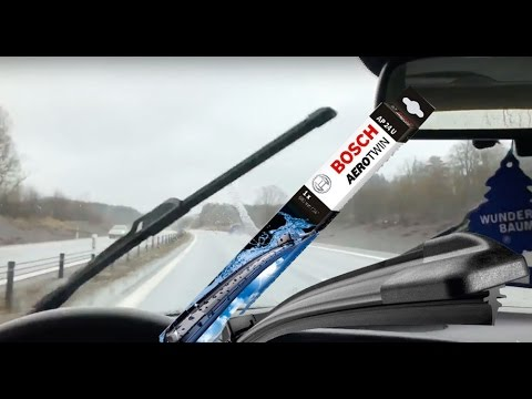 New Bosch AeroTwin  wipers on my Saab + Test 160kmh