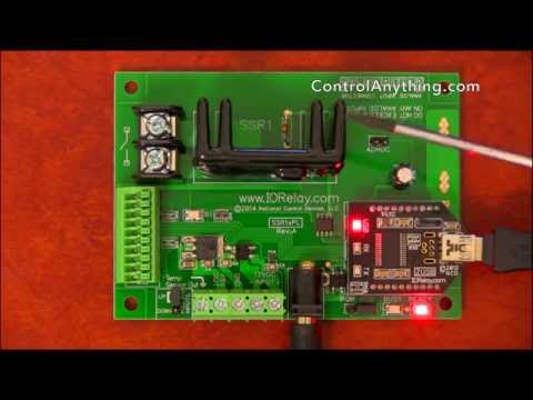 1 Channel USB Solid State Relay Controller ProXR Lite Hardware Overview