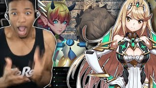 ETIKA REACTS TO GIRLS FIGHT IN XENOBLADE 2 (KORA V.S MYTHRA QUEST)
