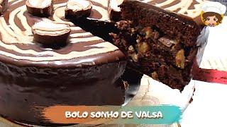BOLO DE CHOCOLATE /ANIVERSÁRIO 🎂😋💖(SONHO DE VALSA) - MIL DELÍCIAS NA COZINHA